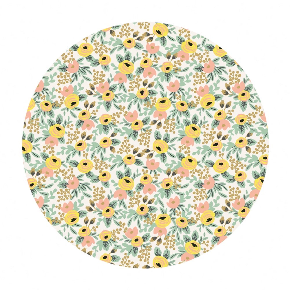 Re-stock! - Rosa in Cream Cotton - Primavera by Rifle Paper Co. - Cotton + Steel Fabrics