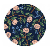 Peonies in Navy Cotton - Wildwood by Rifle Paper Co. - Cotton + Steel Fabrics