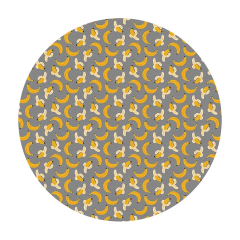 Bananas in Gray - Space Monkey Collection - Paintbrush Studio Fabrics