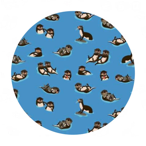 Otters in Blue - Northwest Collection - Riley Blake Designs