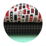 1 meter left! - Thermos Flannel in Iron - Burly Beavers Flannel Collection - Robert Kaufman Fabrics
