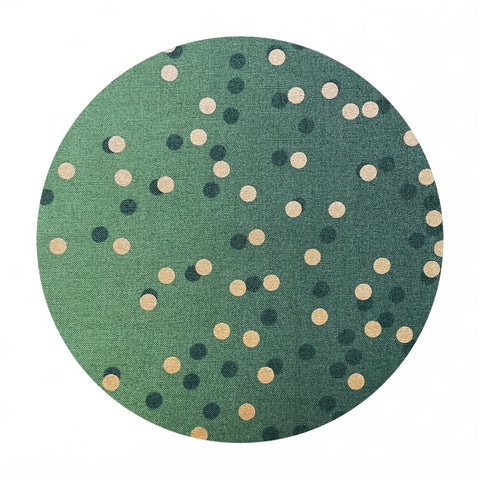3 meters left!  - Evergreen - Ombre Confetti Metallic Collection - Moda Fabrics