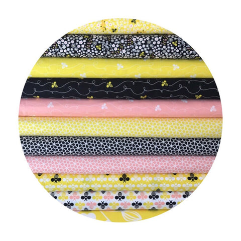 11 Piece Half Meter Bundle (including one Bee Happy panel) - Bee Youtiful Collection - Camelot Fabrics