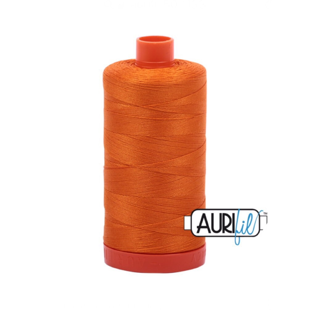 Aurifil Thread - 50wt Large Spool - Bright Orange 1133