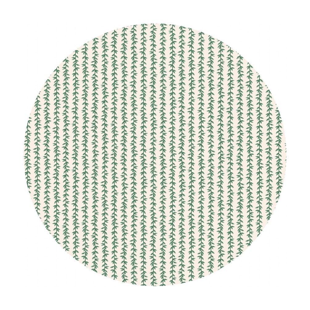 Laurel Stripe Cotton in Cream - Strawberry Fields by Rifle Paper Co. - Cotton + Steel Fabrics