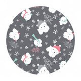 Polar Cubs Flannel in Gray - Camelot Fabrics