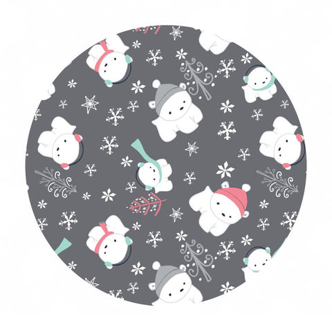 2 meters left! - Polar Cubs Flannel in Gray - Camelot Fabrics