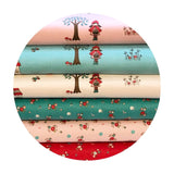 2 meters left! - Little Floral Red in Flannel - Little Red Riding Hood Collection - Riley Blake Designs