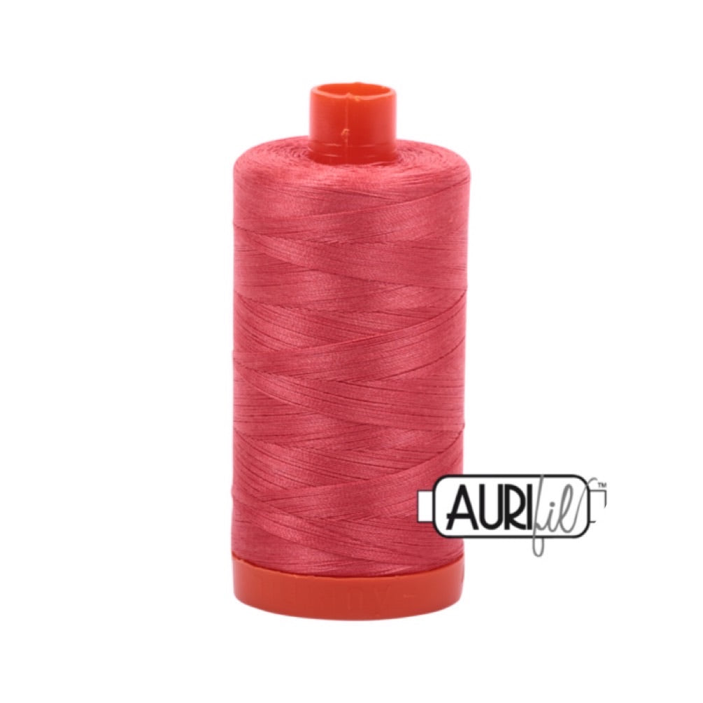 Aurifil Thread - 50wt Large Spool - 5002 Medium Red