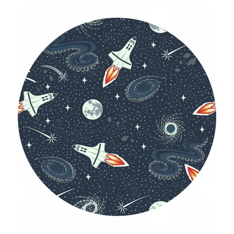 Navy Blue Rockets - Light Years Collection - Lewis & Irene Fabrics