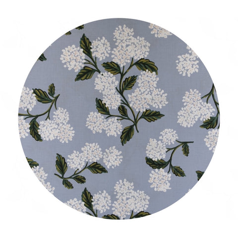 Re-stock! Hydrangea in Light Blue Cotton - Meadow by Rifle Paper Co. - Cotton + Steel Fabrics