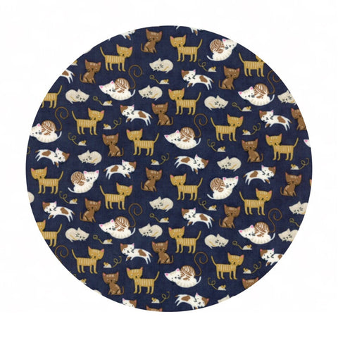 1 meter left! - Woof Woof Meow in Navy - Woof Woof Meow Collection - Moda Fabrics