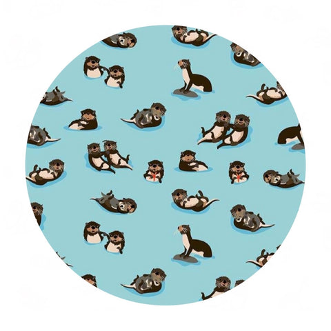 Otters in Aqua - Northwest Collection - Riley Blake Designs