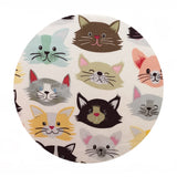 1.5  meters left! - Cat Fancy White - Best in Show Collection - Blend Fabrics