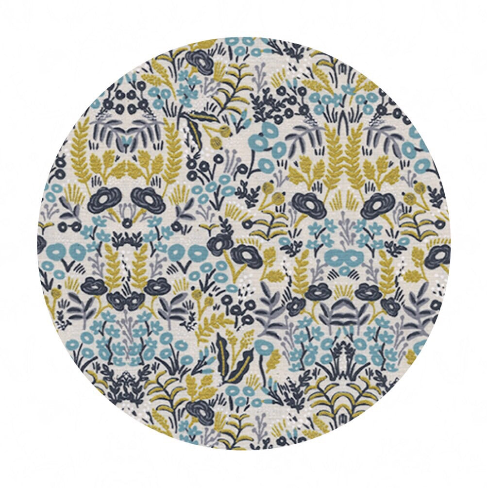 Tapestry Natural in Cotton Metallic - Menagerie by Rifle Paper Co. - Cotton + Steel Fabrics
