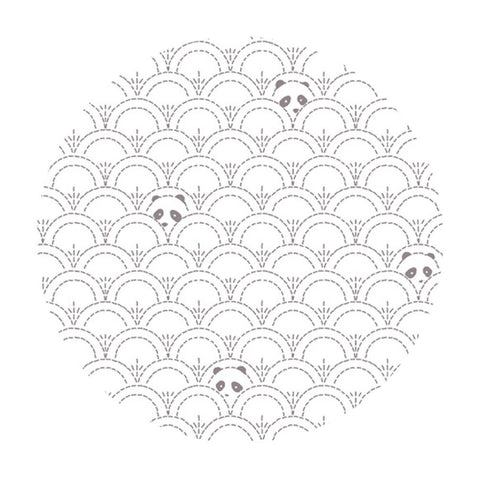 Hidden Panda Cottonbud in Knit - Pandalicious Collection - Art Gallery Fabrics