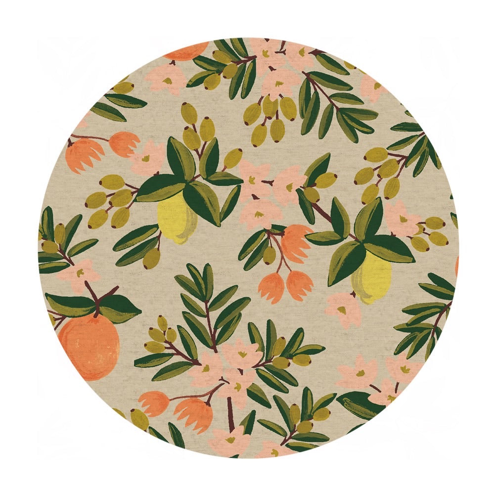 Re-stock! - Citrus Floral in Sand Canvas - Primavera by Rifle Paper Co. - Cotton + Steel Fabrics