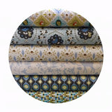 2.5 meters left! - Mosaic Blue - Born Wild Collection - Blend Fabrics