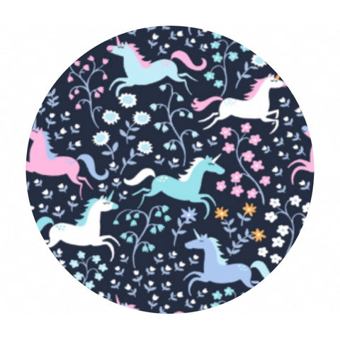 Unicorn Romp in Indigo - Avalon Collection - Dear Stella Fabrics