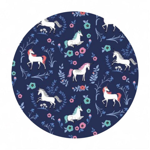 My Unicorn Garden Navy - My Unicorn Collection - Riley Blake Designs