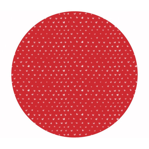 4 meters left! - Hearts in Tomato - Fa La La Llama Collection - Dear Stella Fabrics