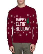 Ugly Christmas Elfin Holiday Long Sleeve T-Shirt