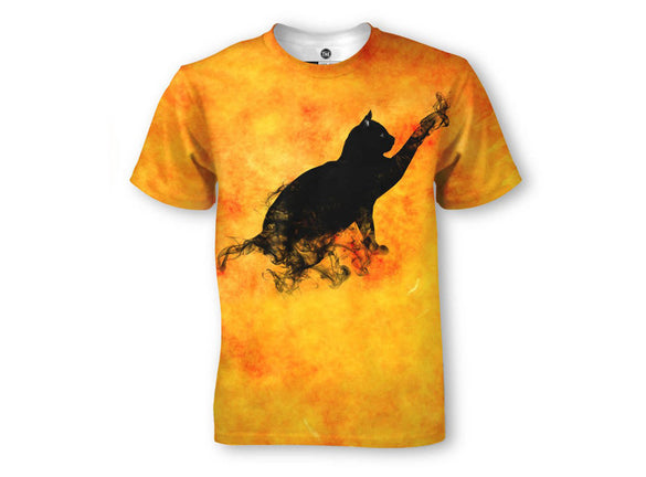 Black Smoking Hot Cat T-Shirt