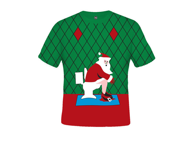 Santa On The Can T-Shirt