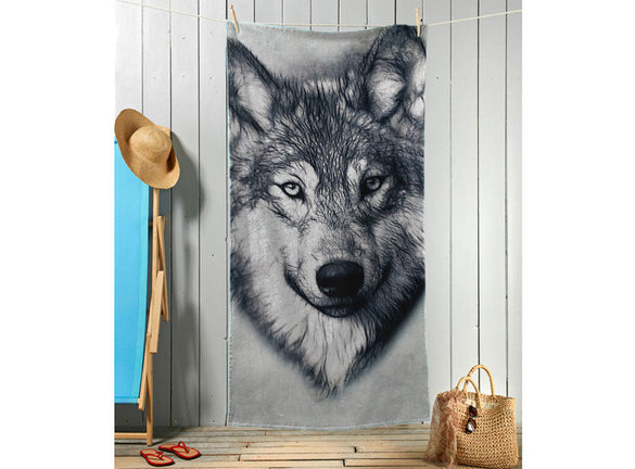 Wolf Sketch Towel