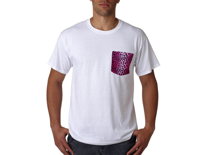 Hot Pink Leopard Pocket T-Shirt