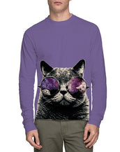 Cat With Glasses Long Sleeve T-Shirt