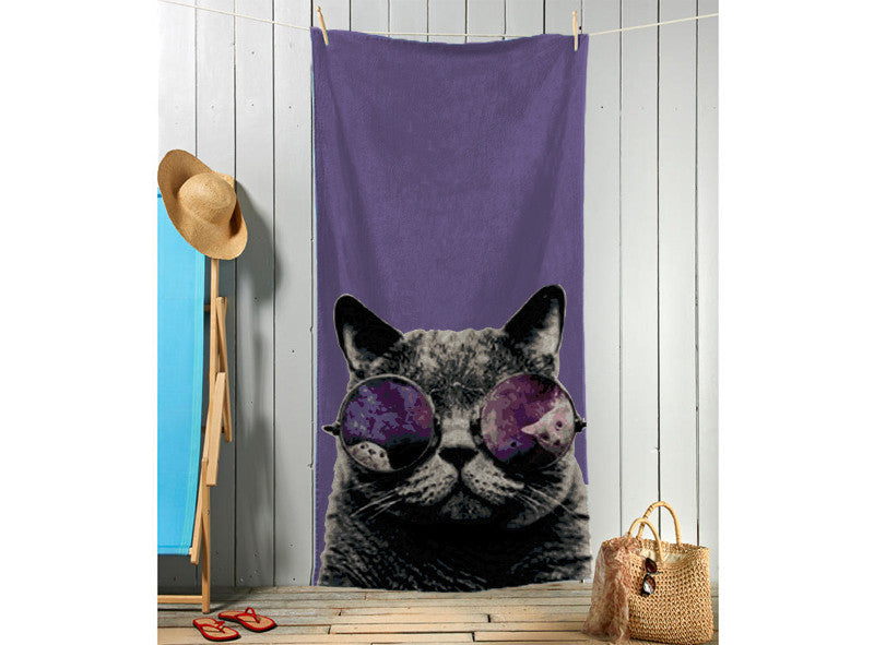Cat With Glasses Towel