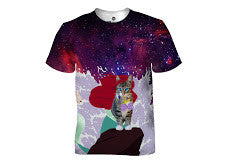 Little Mermaid Cat T-Shirt