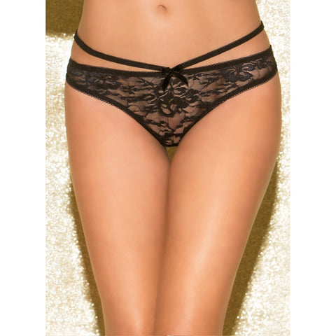 Glitter Fringe with Benefits Open Back Panty