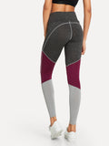 Colour Block Peg Leg Leggings