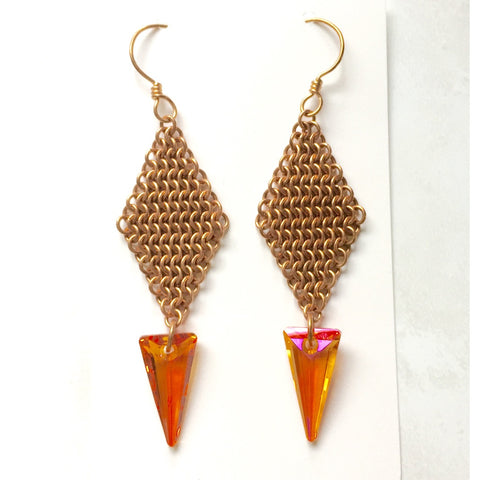 European 4-in-1 Spike Earrings