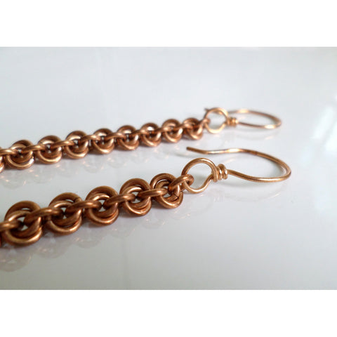 Bronze Roses Earrings