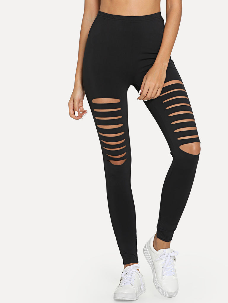 Ladder Ripped Leggings