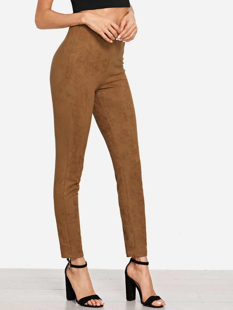 Solid Suede Leggings