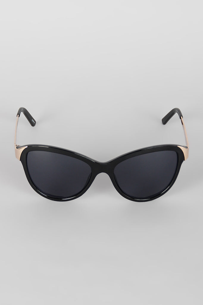 Curved Wing Silhouette Sunglasses