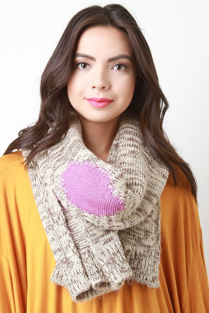Colorful Patches Knitted Scarf