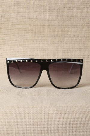 Studded Colorblock Sunglasses