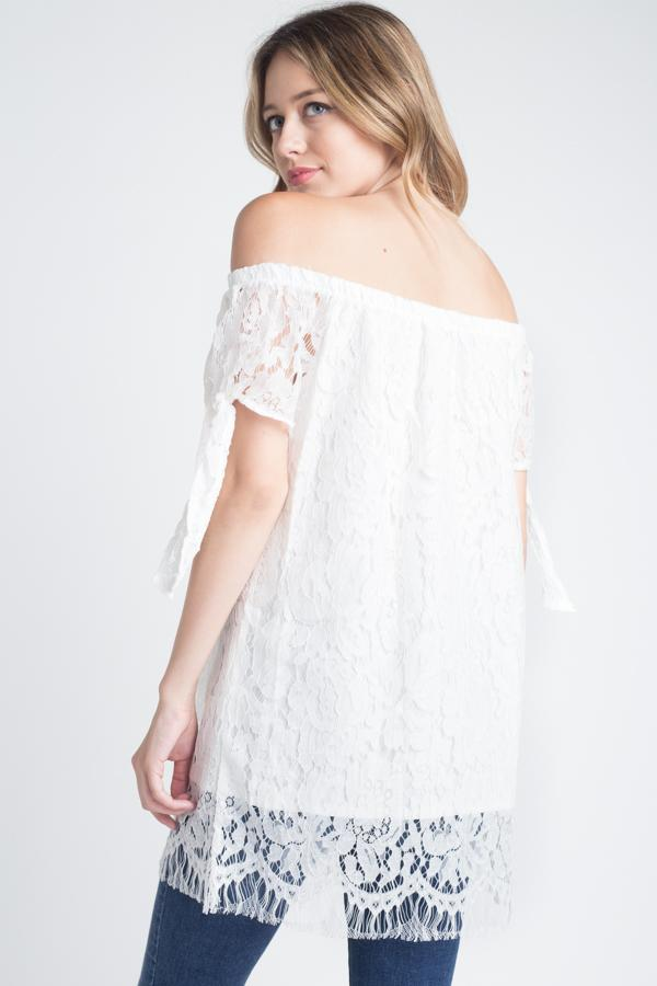 Women's Off shoulder Lace Top