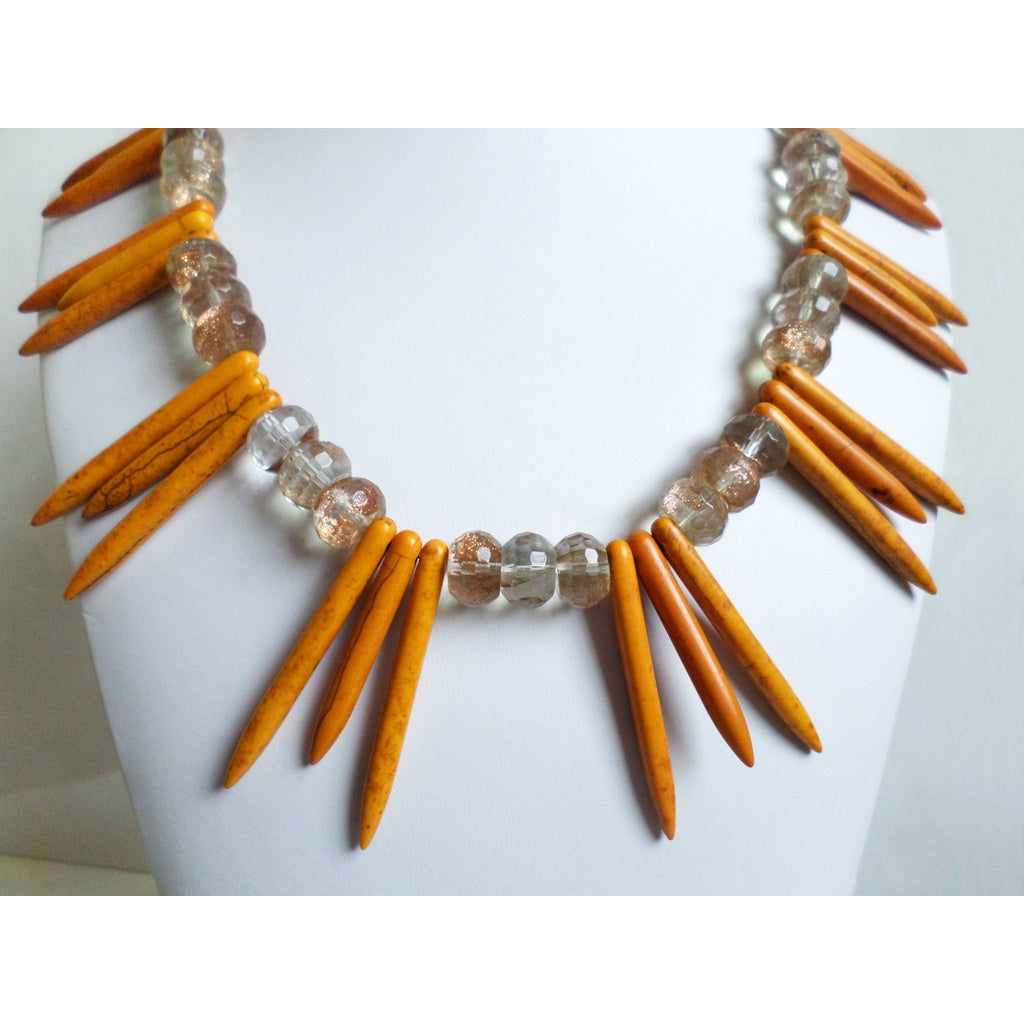 Golden Howlite & Copper Quartz Necklace