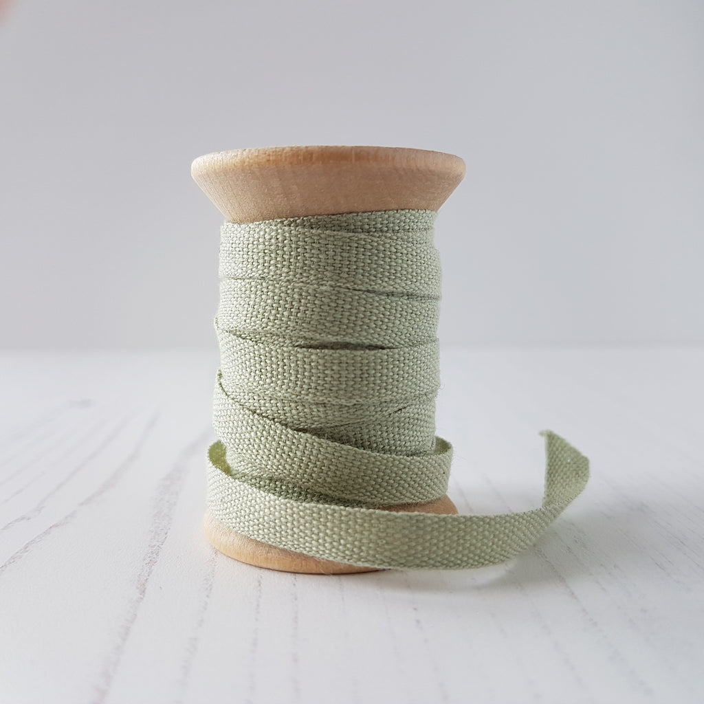 Studio Carta Cotton Ribbon Sage - HUEBOW
