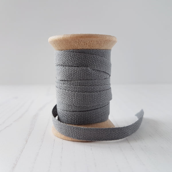 Studio Carta Cotton Ribbon Gravel - HUEBOW