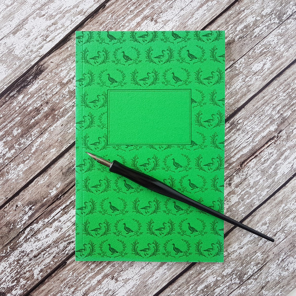 Sesame Letterpress Journal Green Ducks - HUEBOW