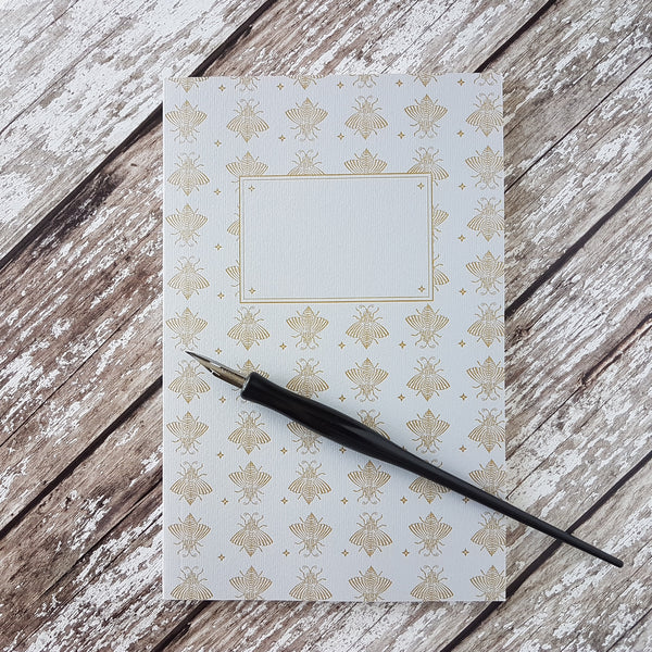 Sesame Letterpress Journal Gold Bees