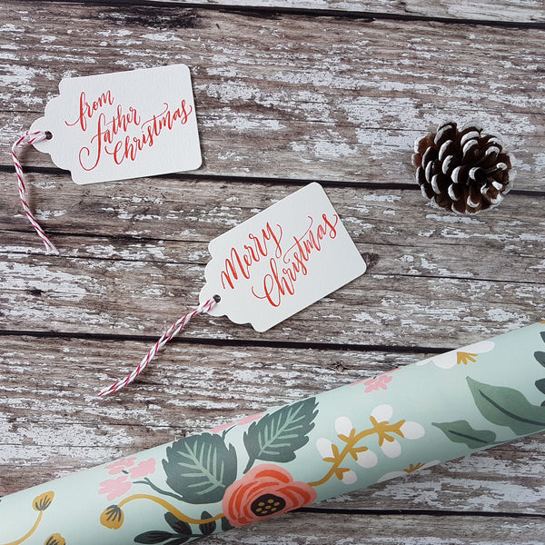 Imogen Owen Letterpress Christmas Gift Tags (a pack of 6) - HUEBOW