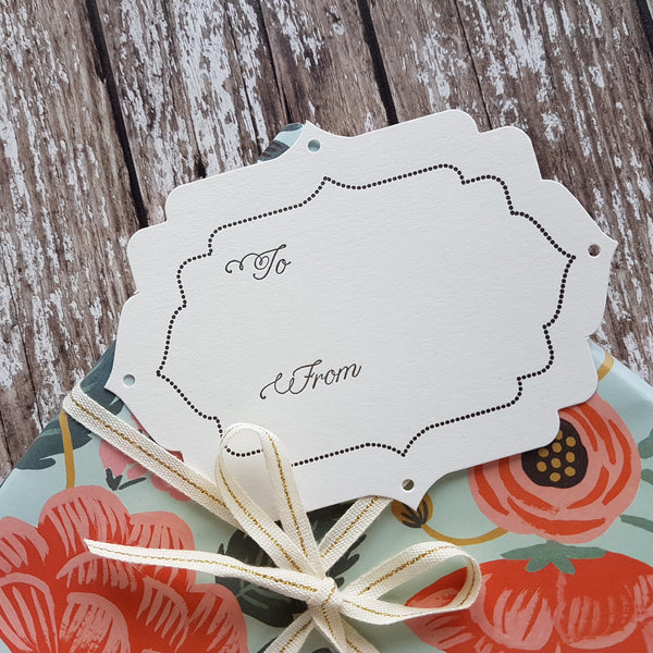Imogen Owen Letterpress Parcel Plates (a pack of 5) - HUEBOW